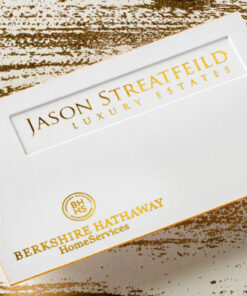 Foil covered business cards deluxa printing reheart Gallery