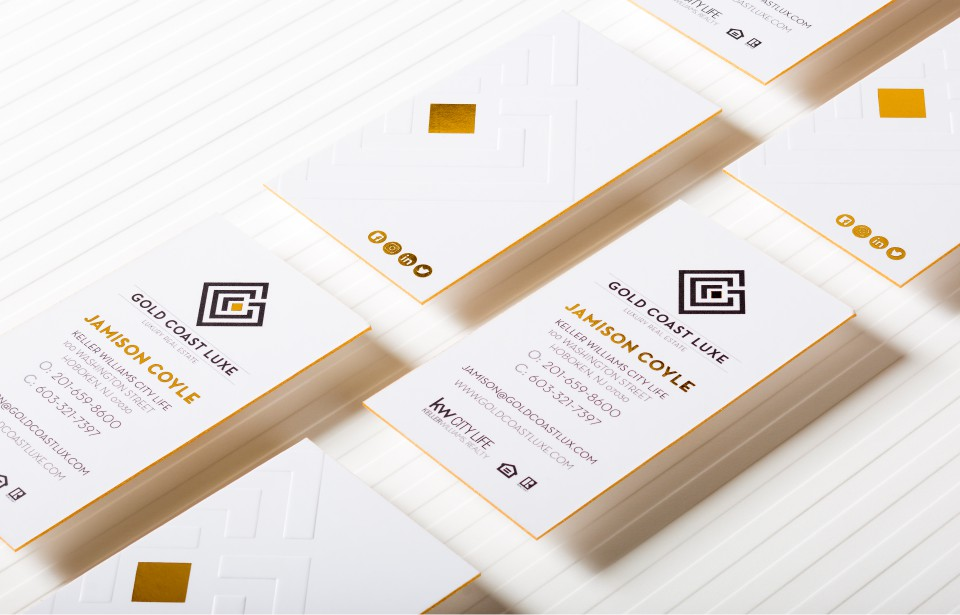 Silk Business Cards - Deluxa Printing